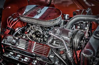Photograph - 1956 Chevrolet Farm Truck Engine by David Morefield