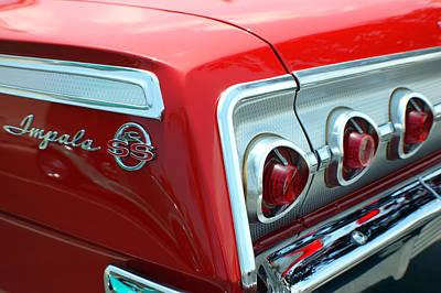 1956 Chevrolet Impala Ss Taillights 2 Art Print by DJ Monteleone