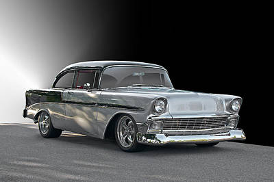 1956 Chevrolet 'post' Coupe Art Print by Dave Koontz