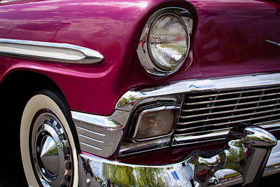 Vehicles Photograph - 1956 Chevy Bel Air by David Patterson