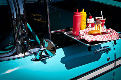 Hop Photograph - 1956 Chevy Bel Air  I Said No Pickles Where Is That Carhop by David Patterson