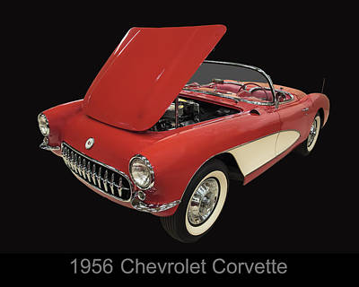 Digital Art - 1956 Chevy Corvette by Chris Flees