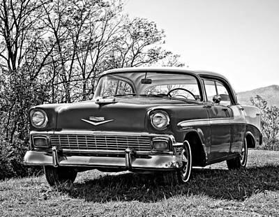 Classic Car Photograph - 1956 Chevy Monochrome by Steve Harrington