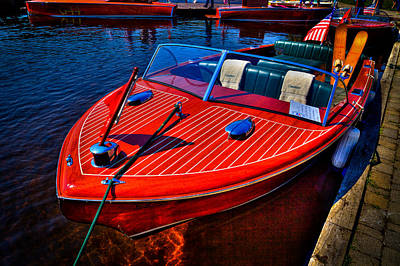 Photograph - 1956 Chris-craft Capri Classic Runabout by David Patterson