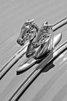1956 Citroen 2cv Hood Ornament Art Print by Jill Reger