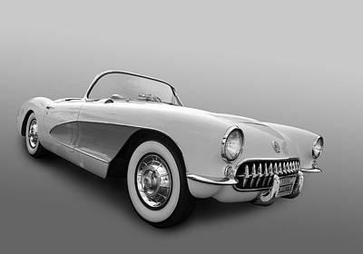 1956 Corvette Art Print by Bill Dutting