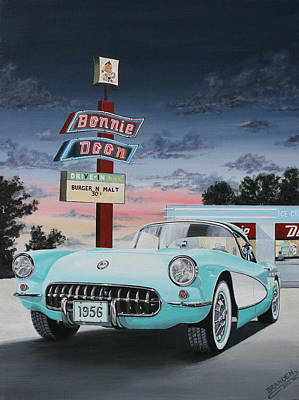 Painting - 1956 Corvette  by Branden Hochstetler