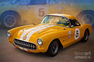 Photograph - 1956 Corvette Front Side View by Stuart Row