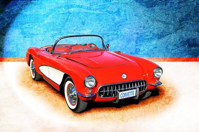 Photograph - 1956 Corvette by Stuart Row