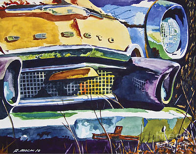 1956 Desoto Abstract Art Print by Rick Mock