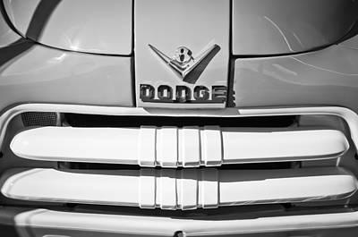 1956 Dodge Pickup Grille Emblem Art Print by Jill Reger