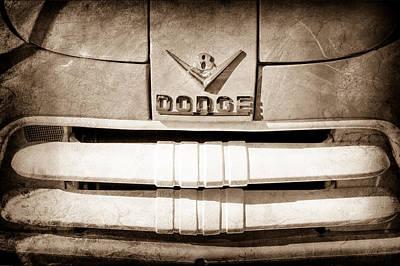 1956 Dodge Pickup Truck Grille Emblem Art Print