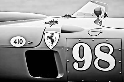 Photograph - 1956 Ferrari 410 Sport Scaglietti Spyder -1024bw by Jill Reger