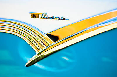 1956 Ford Photograph - 1956 Ford Crown Victoria Glass Top Emblem -3168c by Jill Reger