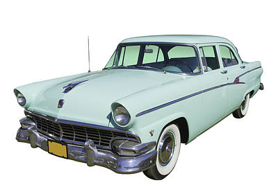 Photograph - 1956 Ford Custom Line Antique Car by Keith Webber Jr