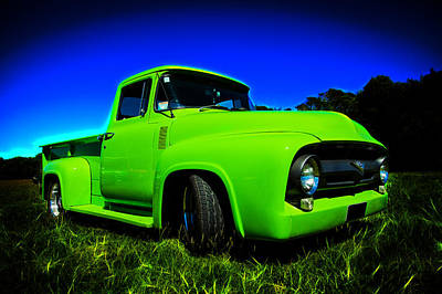 1956 Ford F-100 Pickup Truck Art Print by motography aka Phil Clark