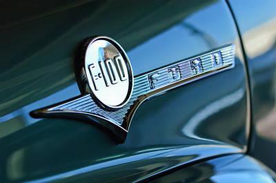 1956 Ford F-100 Truck Emblem Art Print by Jill Reger