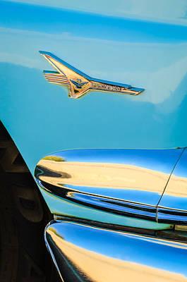 1956 Ford Fairlane Thunderbird Emblem Art Print by Jill Reger