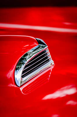1956 Ford Photograph - 1956 Ford Thunderbird Hood Scoop -287c by Jill Reger