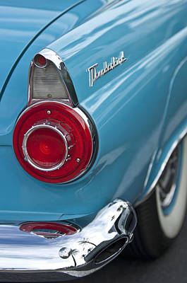 Ford Automobile Photograph - 1956 Ford Thunderbird Taillight And Emblem by Jill Reger