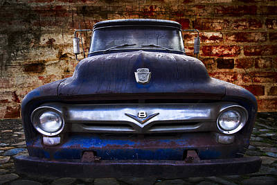 1956 Ford V8 Art Print by Debra and Dave Vanderlaan