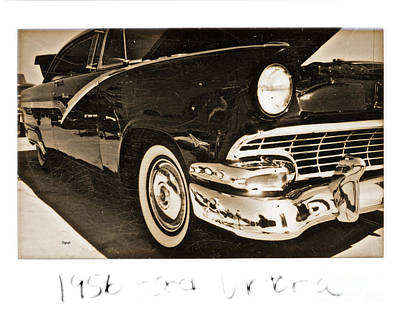 Transportion Photograph - 1956 Ford Victoria  by Steven Digman