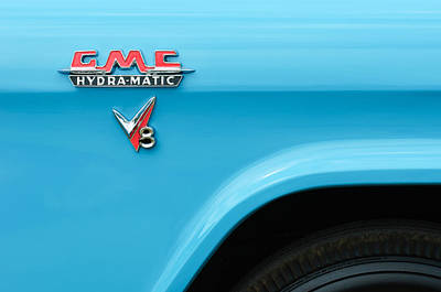 Photograph - 1956 Gmc 100 Deluxe Edition Pickup Truck Emblem by Jill Reger