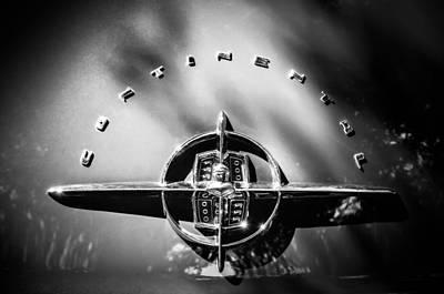 Photograph - 1956 Lincoln Continental Rear Emblem -1055bw by Jill Reger