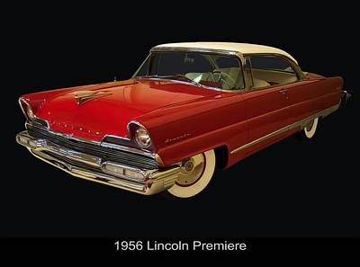 Digital Art - 1956 Lincoln Premiere by Chris Flees