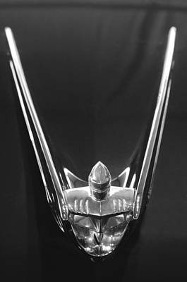 1956 Lincoln Premiere Convertible Hood Ornament 2 Art Print by Jill Reger