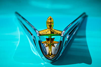 1956 Lincoln Premiere Hood Ornament -0815c Art Print by Jill Reger