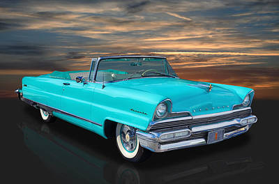 Street Rod Photograph - 1956 Lincoln - Top Down by Frank J Benz
