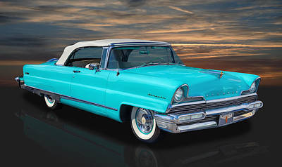 Photograph - 1956 Lincoln - Top Up by Frank J Benz
