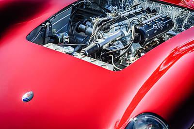 1956 Maserati 150s Engine Emblem Art Print