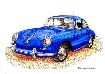 Painting - 1956 Porsche 356 Coupe by Jack Pumphrey