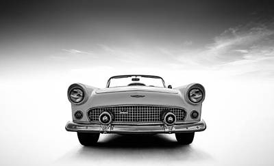 Ford Automobiles Digital Art - 1956 Thunderbird by Douglas Pittman
