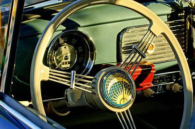 Photograph - 1956 Volkswagen Vw Bug Steering Wheel 2 by Jill Reger
