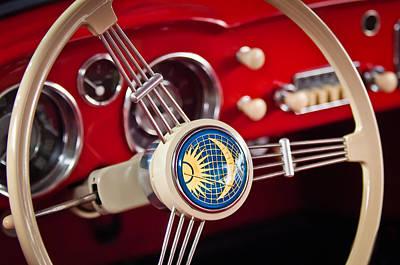 Photograph - 1956 Volkswagen Vw Karmann Ghia Coupe Steering Wheel 2 by Jill Reger