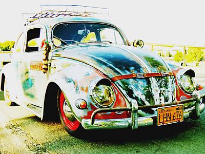 Wip Photograph - 1956 Vw Bug by Pamela Patch