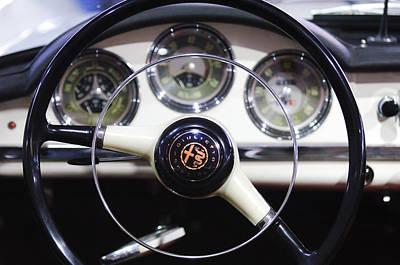 Photograph - 1957 Alfa Romeo Giulietta Spider Steering Wheel Emblem by Jill Reger