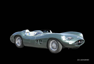 1957 Aston Martin Front Art Print