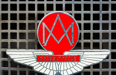 Owner Photograph - 1957 Aston Martin Owner's Club Emblem by Jill Reger