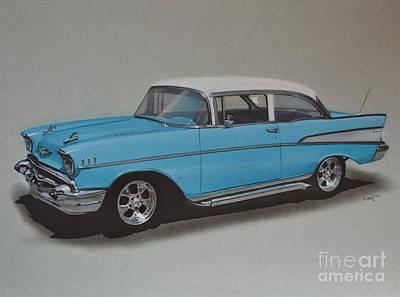 1957 Bel Air Art Print