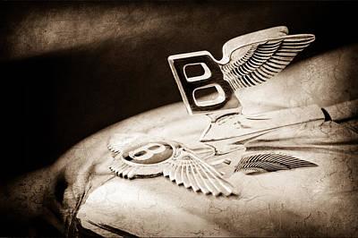 Old Bentley Photograph - 1957 Bentley S-type Hood Ornament - Emblem by Jill Reger