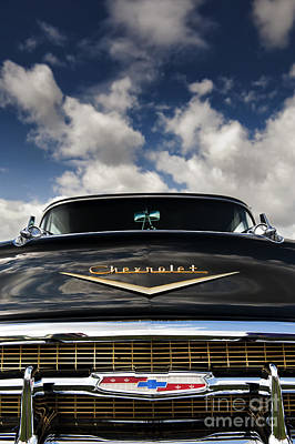 1957 Black Chevrolet Bel Air  Art Print by Tim Gainey