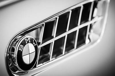 Photograph - 1957 Bmw 507 Roadster Emblem -1591bw by Jill Reger