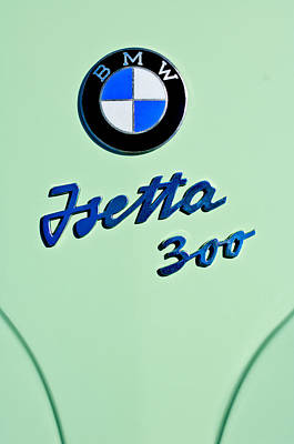 Photograph - 1957 Bmw Isetta 300 Motocoupe Emblem by Jill Reger