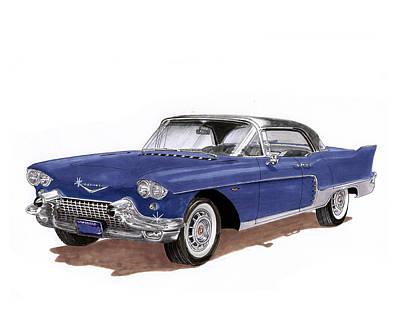 Painting - 1957 Cadillac Brougham  by Jack Pumphrey