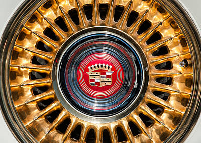 Photograph - 1957 Cadillac Eldorado Biarritz Convertible Wheel Emblem by Jill Reger