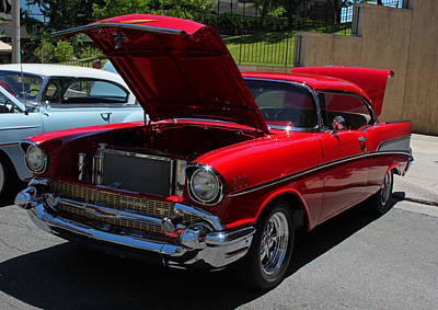 1957 Candy Apple Red Chevy Original by Suzanne Gaff